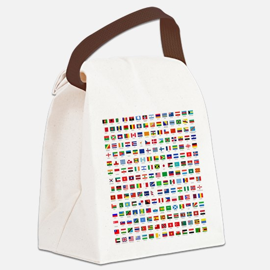 alphabetically sorted flags of th Canvas Lunch Bag