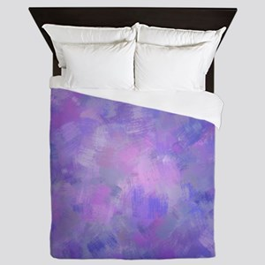 Pink, purple and lavender canvas Queen Duvet
