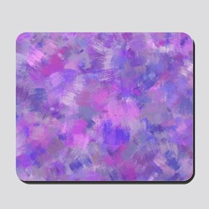 Bold pink, purple and lavender canvas Mousepad