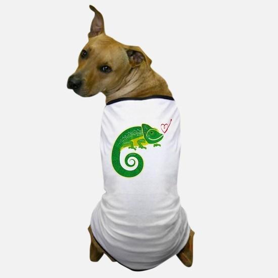 Chameleon with heart. Dog T-Shirt
