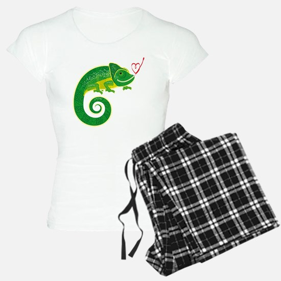 Chameleon with heart. Pajamas