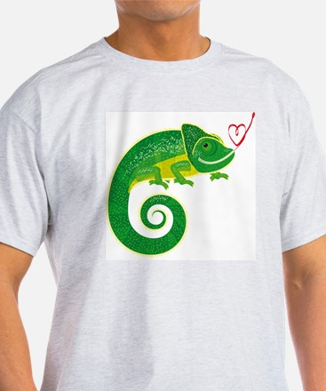 Chameleon with heart. T-Shirt