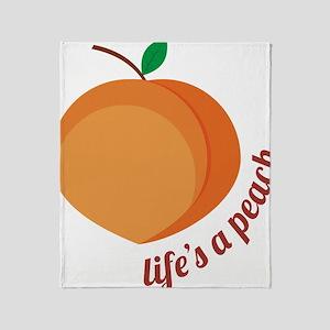 Life's a Peach Throw Blanket