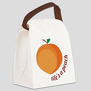 Life's a Peach Canvas Lunch Bag
