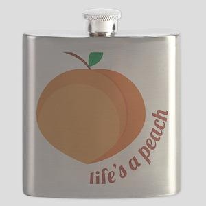 Life's a Peach Flask