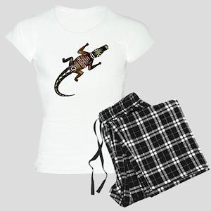 Decorative crocodile on a w Women's Light Pajamas
