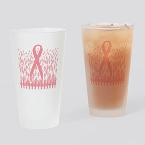 breast cancer march illustration Drinking Glass