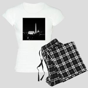 Washington DC Skyline with  Women's Light Pajamas