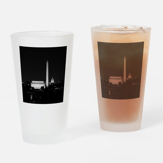 Washington DC Skyline with Lincoln  Drinking Glass