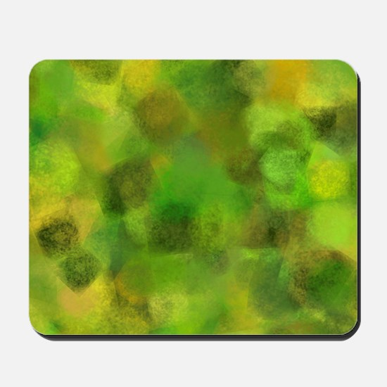 Bright green and yellow canvas Mousepad