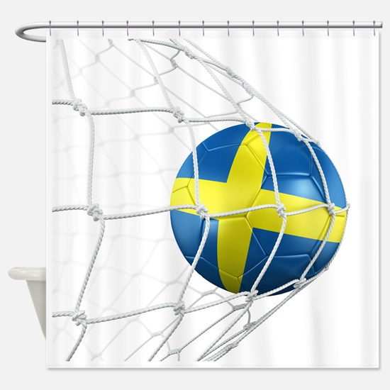 3d rendering of a Swedish soccer ba Shower Curtain