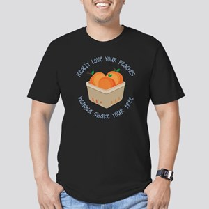 Love Your Peaches Men's Fitted T-Shirt (dark)