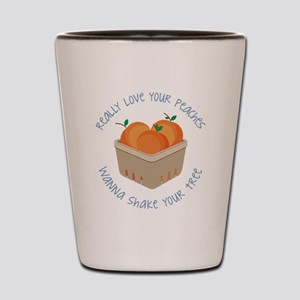 Love Your Peaches Shot Glass