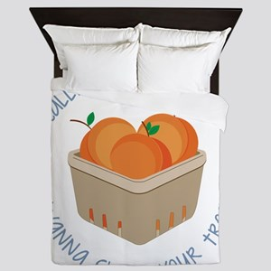 Love Your Peaches Queen Duvet