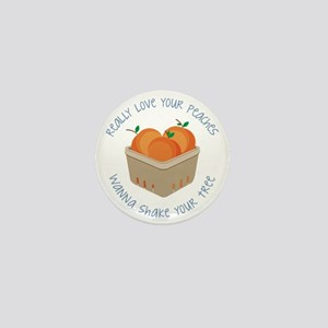 Love Your Peaches Mini Button
