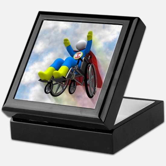 Wheelchair Superhero in Flight Keepsake Box