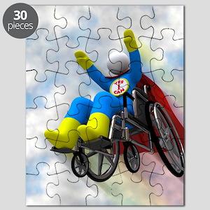 Wheelchair Superhero in Flight Puzzle