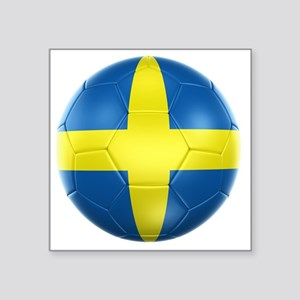 """3d rendering of a Swedish s Square Sticker 3"""" x 3"""""""