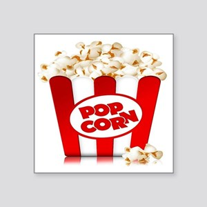 "popcorn Square Sticker 3"" x 3"""