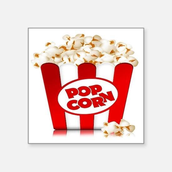 "popcorn Square Sticker 3"" x 3"""
