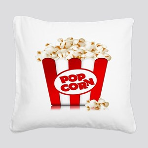 popcorn Square Canvas Pillow