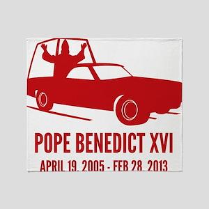 Pope Benedict Retirement Throw Blanket