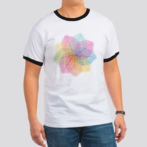 Abstract summer leaves Ringer T