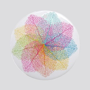 Abstract summer leaves Round Ornament