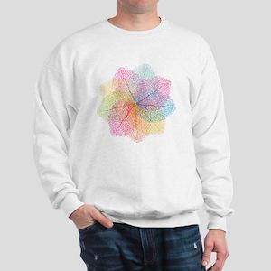 Abstract summer leaves Sweatshirt
