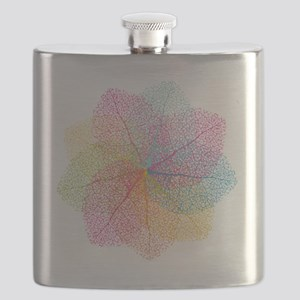 Abstract summer leaves Flask