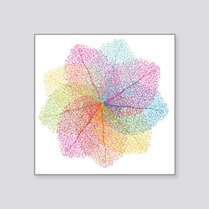 """Abstract summer leaves Square Sticker 3"""" x 3"""""""