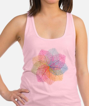 Abstract summer leaves Racerback Tank Top