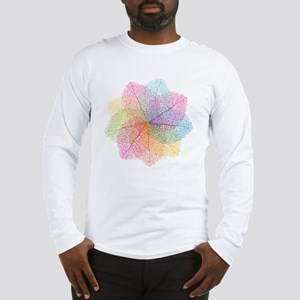 Abstract summer leaves Long Sleeve T-Shirt