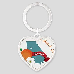 The Peach State Heart Keychain