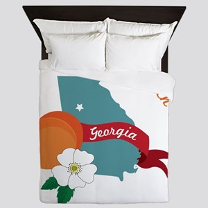 The Peach State Queen Duvet