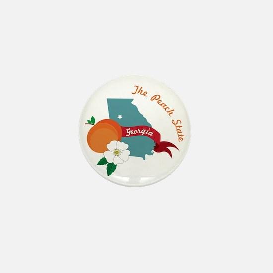 The Peach State Mini Button