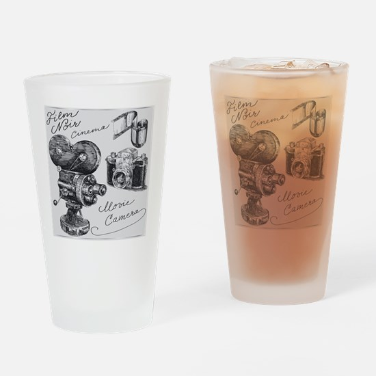 hand drawn cameras Drinking Glass