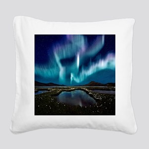 Aurora Borealis Square Canvas Pillow