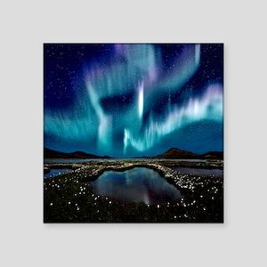 """Aurora Borealis Square Sticker 3"""" x 3"""""""