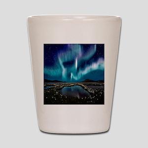 Aurora Borealis Shot Glass
