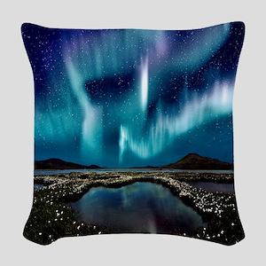 Aurora Borealis Woven Throw Pillow