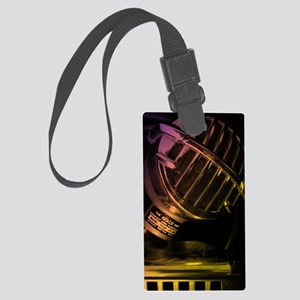 Vintage Microphone and Harmonica Large Luggage Tag