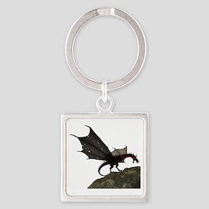 Fantasy Dragon Square Keychain