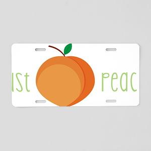 Just Peachy Aluminum License Plate