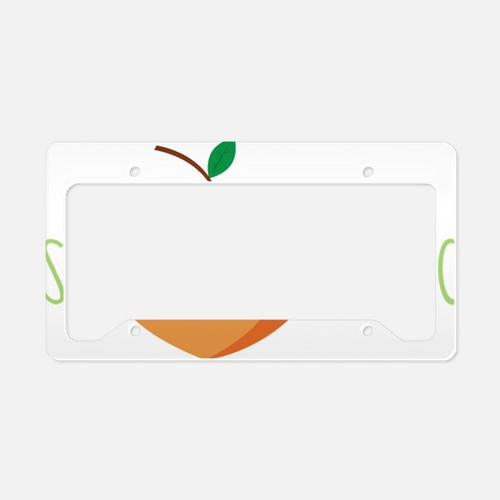 Just Peachy License Plate Holder