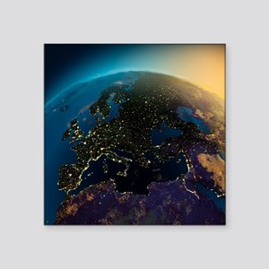 """Night View Of Europe From T Square Sticker 3"""" x 3"""""""