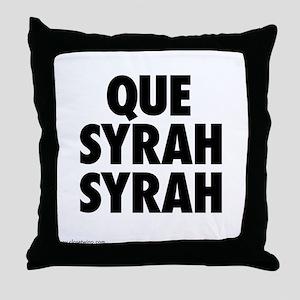 Que Syrah Syrah Throw Pillow
