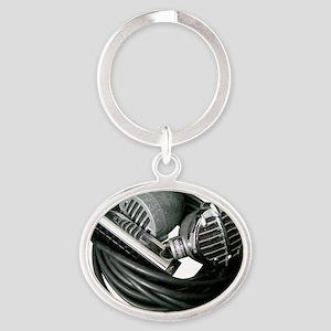 Harp Mics Oval Keychain