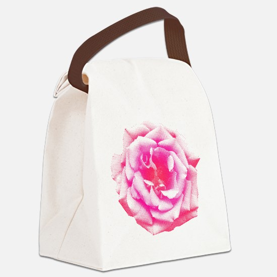 Halftone Rose Canvas Lunch Bag