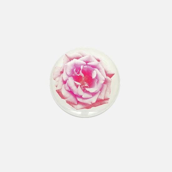 Halftone Rose Mini Button